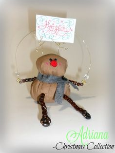 "Rudolph the Reindeer ""Happy Holidays"" Shelf Sitter by AdrianaJewelryDesign on Etsy"