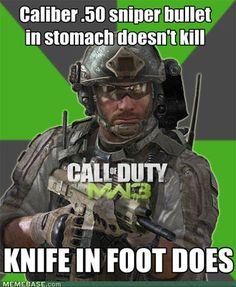 video game logic knife foot
