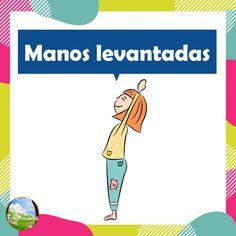 Fichas con posturas de YOGA para niños en PDF para descargar Yoga For Kids, Exercise For Kids, Chico Yoga, Pilates, Yoga 1, Mindfulness Exercises, Asana, Motor Skills, Reiki