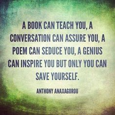 You can save yourself.
