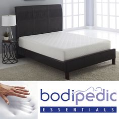 @Overstock - This premium mattress is made with three layers, each designed to provide maximum comfort. The memory foam construction is ideal for deep sleep.http://www.overstock.com/Home-Garden/Bodipedic-Essentials-10-inch-Memory-Foam-Mattress/7458824/product.html?CID=214117 $299.99