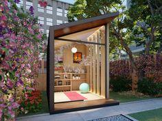 Outdoor Office, Backyard Office, Backyard Studio, Garden Studio, Garden Office, Outdoor Yoga, Office Pods, Tiny Office, Home Office Setup