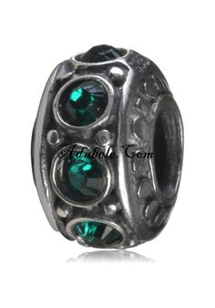 This beautiful emerald May birthstone .925 Sterling Silver European charm fits Pandora, Biagi Trollbeads, Chamilia, and most charm bracelets find out more at adabele.com