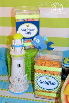 """Photo 5 of 32: Whale, Ocean, Under the Sea / Birthday """"Aiden's Green Whale 1st Birthday Party""""   Catch My Party"""