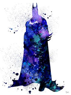 batman watercolor painting - Google Search