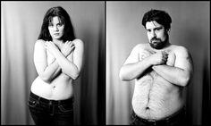 Веселая фотосессия влюбленной пары - смешные фотографии парня и девушки