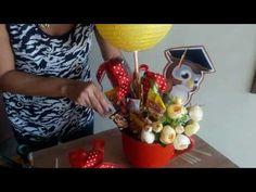 Arreglo de dulces para graduación