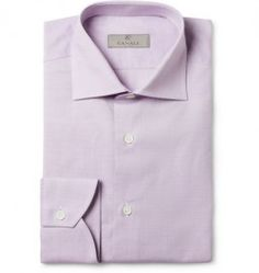 Canali Lilac Cotton Shirt