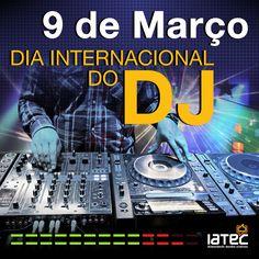 Arte criada para comemoração do Dia Internacional do DJ