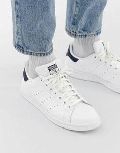 4dfd2a47e20 Imagen 1 de Zapatillas de deporte de cuero blancas M20325 Stan Smith de adidas  Originals Zapatillas