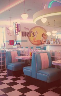 Mel's diner, lets grab a booth and chocolate miilkshake with friends after school