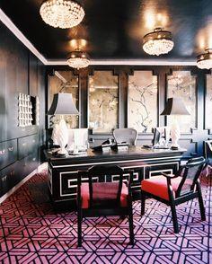 Black And White Desk Photos, Design, Ideas, Remodel, and Decor
