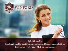 WinFord High School – with the admission recommendation letter to help you get selected
