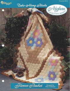 Crochet Granny Square Afghan Pattern Home by KnitKnacksCreations