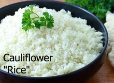 A healthy way to replace rice in recipes for gluten free, low-carb, paleo, clean eating, and just anyone trying to eat more veggies. Best Rice Recipe, Rice Recipes, Low Carb Recipes, Cooking Recipes, Healthy Recipes, Meal Recipes, Healthy Meals, Best Cauliflower Recipe, Cauliflower Rice