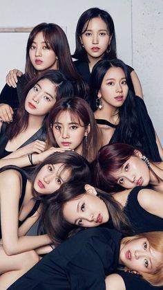 Black Twice ♥♥♥ Kpop Girl Groups, Korean Girl Groups, Kpop Girls, Nayeon, Pop Kpop, Twice Album, Twice Kpop, One In A Million, Dahyun