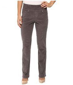 Jag Jeans Petite Petite Peri Pull On Straight Wale Corduroy (Smokey Grey) Women's Casual Pants