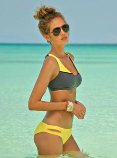Bikini- yellow and gray. Love!