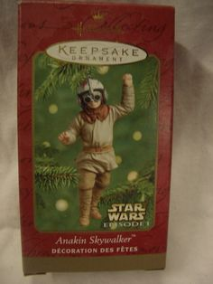 Hallmark Ornament Anakin Skywalker ~ Dated 2001.  Mint in Box. Retailed for $14.95.  Asking $10.