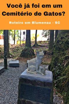 Você já foi em um Cemitério de Gatos? Então se estiver em Blumenau - SC você ira conhecer! Faça um passeio pela Rua XV de Novembro e conheça essa e outras atrações da cidade. #Blumenau #ValeEuropeu