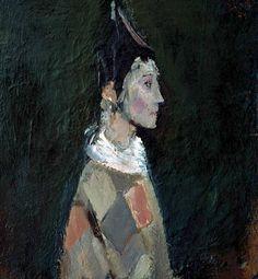 Corneliu Baba - Portrait (Harlequin), 1974