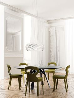 Astrid Chairs, Transitional Dining Room Design at Cassoni.com ...