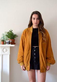 90s Vintage Brown Oversized Suede Bomber Jacket