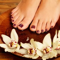 Save money and your health by giving yourself a non-toxic pedicure at home, for just pennies. How I'd never consider going to a nail salon because I know how easy it is to have smooth feet right at home. Foot Pedicure, Diy Pedicure, Pedicure At Home, Diy Beauty, Beauty Makeup, Beauty Hacks, Smooth Feet, Hand Massage, Diy Spa