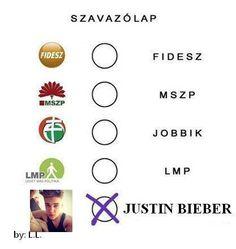 hahahha:DD Én Justinra szavaznék:)<3