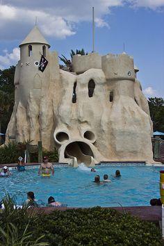 Sand Castle Pool Slide at Disney's Old Key West Resort at Walt Disney World, FL