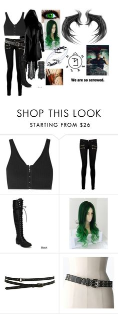 """""""Outfit #14 (eyeless)"""" by eyeless-angel-of-death ❤ liked on Polyvore featuring ...Lost, T By Alexander Wang, Paige Denim, Warehouse and Relic"""