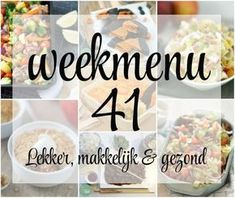 Lekker, makkelijk en gezond weekmenu – week 41 met een heerlijk Indonesisch stoofpotje, een gezonde salade met witlof en een herfstig toetje. Meals For The Week, Food Menu, Meal Planning, Meal Prep, Healthy Recipes, Healthy Food, Food Porn, Breakfast, Salad