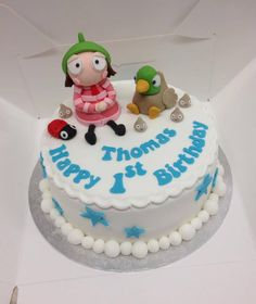 But apparently this is Sarah and Duck, with a ladybird and. 2 Birthday Cake, 4th Birthday, Birthday Parties, Sarah Duck, Duck Cake, Second Birthday Ideas, Character Cakes, Party Planning, Cake Recipes