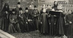 Kerzhensky Old Believers monastery. Taken in 1897, they were members of a fundamentalist Russian orthodox sect which had been persecuted since the days of Peter the Great photographed by Maxim P Dmitriev