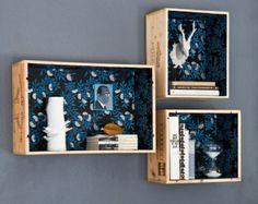 Shelves themselves assembling wooden boxes