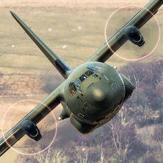 / A Friendly Wave by AirTeam Canon The skilled crew of this RAF Hercules position for a narrow pass in Wales Military Jets, Military Aircraft, Military Humor, Military Helicopter, Fighter Aircraft, Fighter Jets, Air Fighter, C130 Hercules, Ac 130