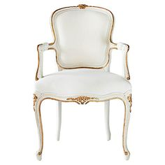 Regent Side Chair, Antiqued White
