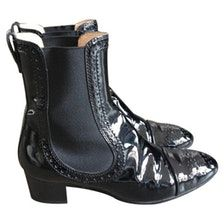 TOD'S Black Patent leather Ankle boots