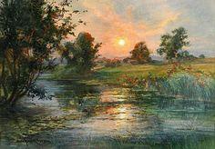 Watercolors by Anna Gardell-Ericson (1853-1939) Swedish Artist