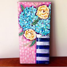 A personal favorite from my Etsy shop https://www.etsy.com/listing/468193440/floral-painting-flower-art-8x16-inch