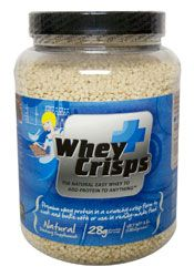 "Whey Protein Crisps - Low Carb - Can be used in place of ""rice krispies"" for any recipe both sweet and savory."