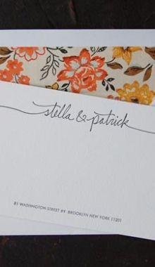 Couples stationary + address
