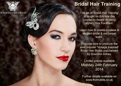 Bridal Hair Training in Gloucestershire, 'Vintage' and 'Red Carpet' looks!