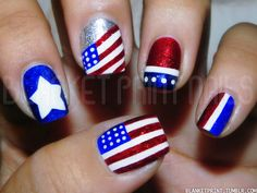 USA Nails I will b doing this for the 4th of july