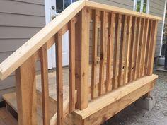 Deck railing: cedar picket