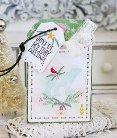Joyful Holiday Pocket Tag by Melissa Phillips for Papertrey Ink (September 2015)