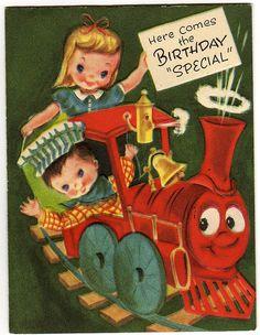 vintage happy birthday card - Google Search