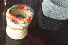 little crochet basket - nuova linea di prodotti partyandcraft handmade with happy!!! canapa!!!