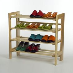 To me this can be used for many things! Shoes being one of them! You can also add drawers to make it hold other supplies! And you can find them real cheap too!