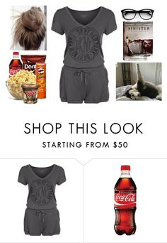 """Horror Movie Night with Puppy"" by teodoramaria98 ❤ liked on Polyvore featuring DKNY and Disney"